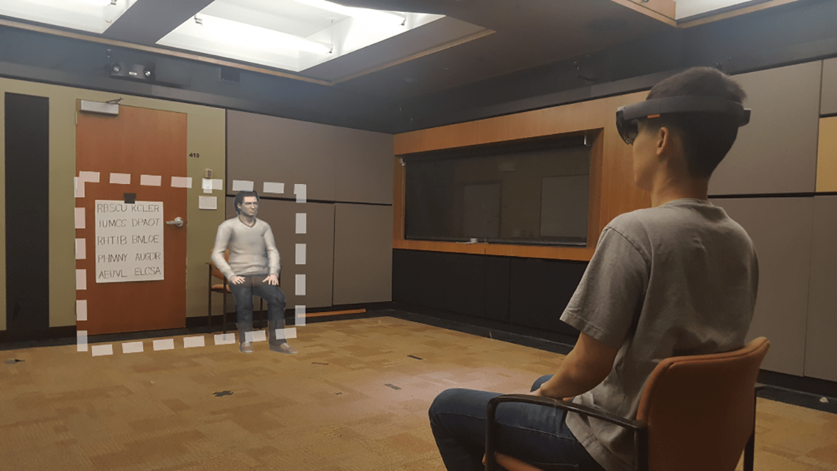 Social interaction in augmented reality