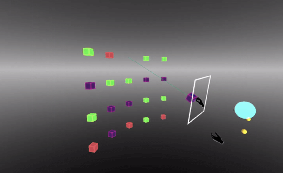 Hand-based VR/MR interaction for deleting entities
