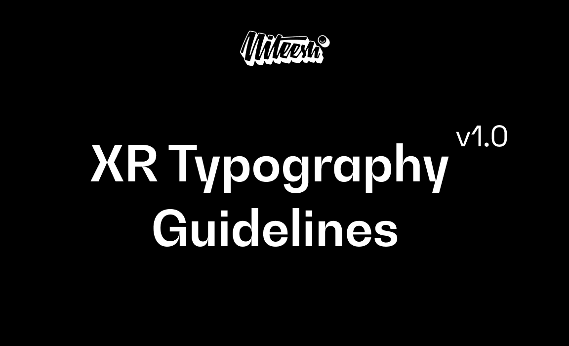XR Typography  Guidelines