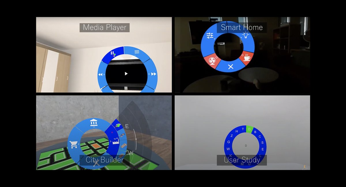 Radi-Eye: Hands-free Radial Interfaces for 3D Interaction using Gaze-activated Head-crossing